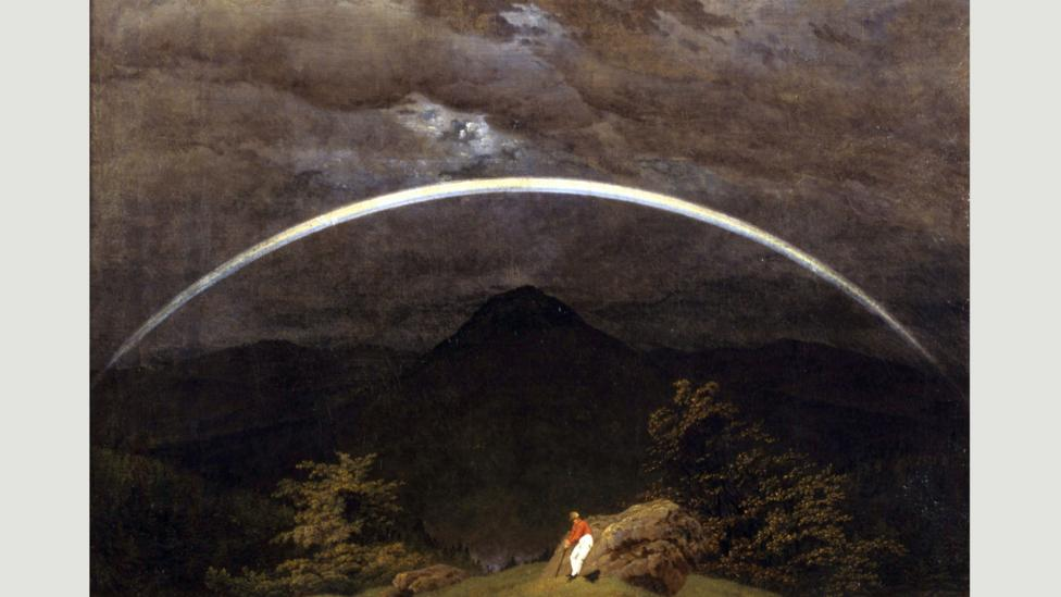 Caspar David Friedrich's Mountain Landscape with Rainbow hangs in the Folkwang Museum in Essen (Credit: Wikipedia)