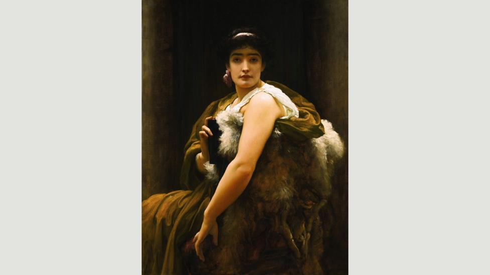 Twixt Hope and Fear, 1895, is one of five other paintings originally displayed by Leighton in his studio (Credit: Private Collection. Image Courtesy of Sotheby's)