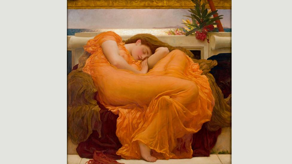 The intense colour has been interpreted as the girl's internal dreamscape, or the artist's own emotional state (Credit: Museo de Arte de Ponce)
