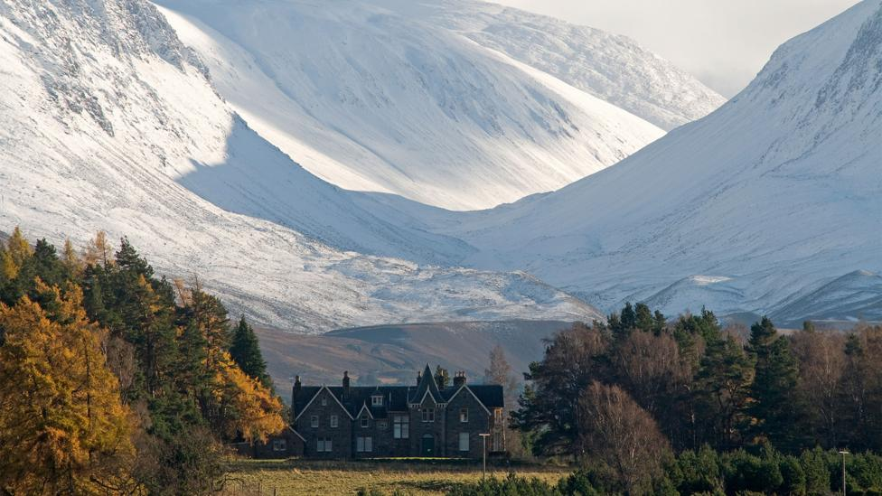 Nestled in the foothills of the Cairngorms, Drumintoul Lodge seems a surprising location for a World War Two commando school (Credit: Alamy)
