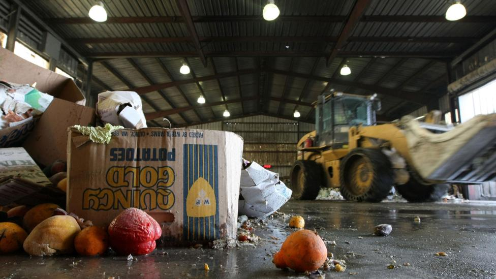 Across Europe, 100m tonnes of food ends up in landfills every year, producing large amounts of greenhouse gases as it decomposes (Credit: Getty Images)