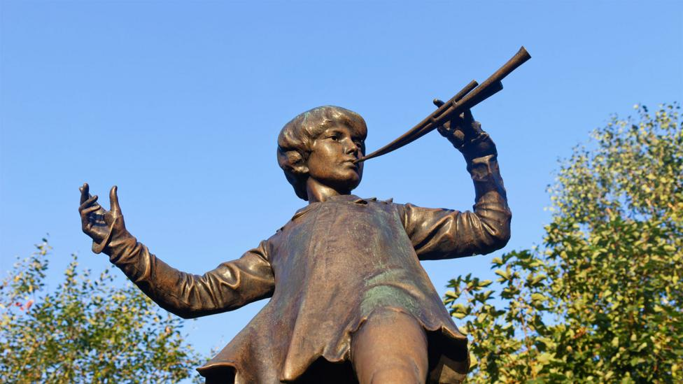 A statue of Peter can be found in London's Kensington Gardens near Barrie's home (Credit: Alamy)