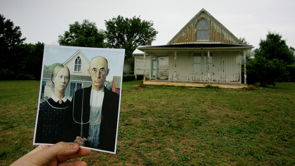The house that features in Wood's painting still stands in Eldon in Iowa (Credit: Getty Images)