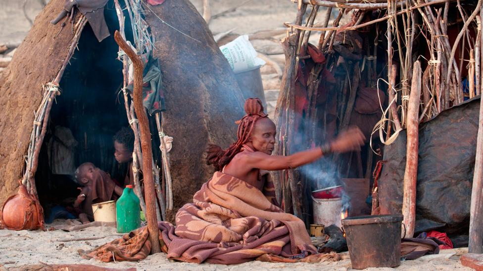 When Jules Davidoff visited a Himba 'kraal', he found no traces of western influence in their way of life (Credit: Alamy)