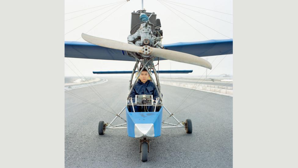Wang built model planes out of bamboo from the forest behind his house – which were burnt as firewood by his mother – before constructing his first aircraft (Credit: Xiaoxiao Xu)