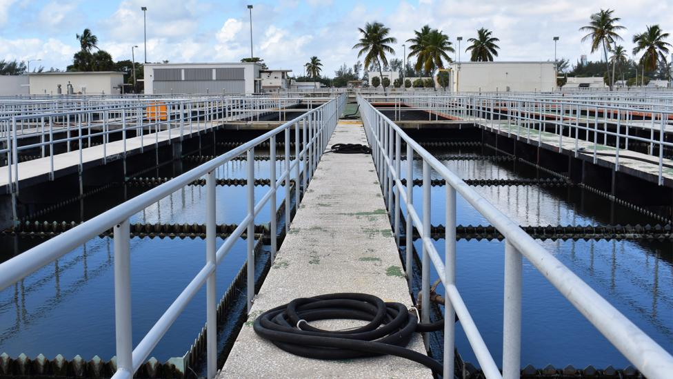 The Central District Wastewater and Treatment Plant is one of many aspects of south Florida's infrastructure which is vulnerable to rising seas (Credit: Amanda Ruggeri)