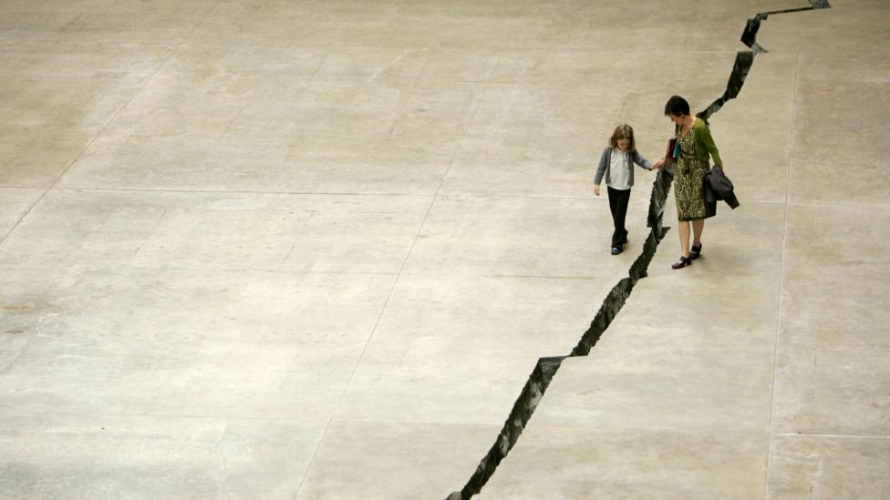 For the Colombian artist Doris Salcedo's 2007 work, Shibboleth, a giant crack was made in the concrete floor of Tate Modern's Turbine Hall (Credit: Alamy)