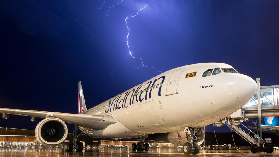 Lightning travels around the outside of the human body; a similar thing happens when it strikes a plane (Credit: iStock)
