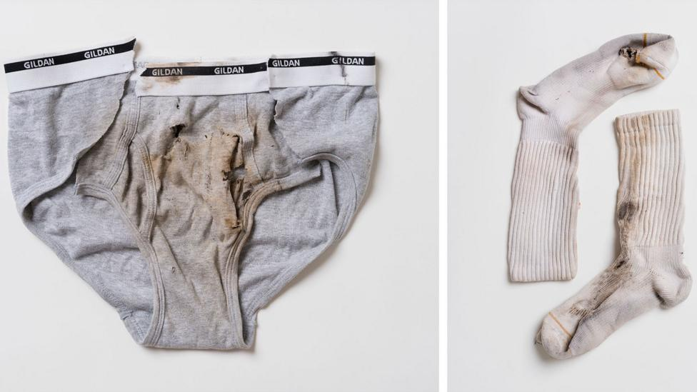 Even Jamie Santana's underwear and Justin Gauger's socks were burnt by the lightning (Credit: William LeGoulon)