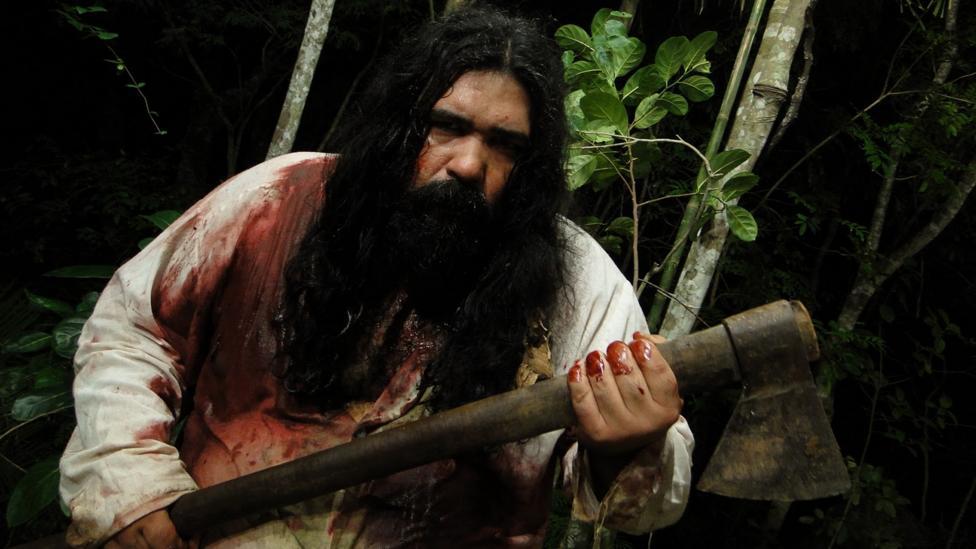 Rodrigo Aragão's cannibal zombie film Black Swamp spawned follow-ups such as Night of the Chupacabras (Credit: Fábulas Negras/EMS Films)