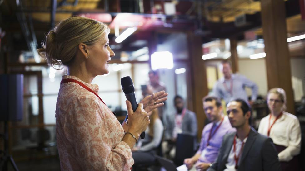 When it comes to public speaking, moments of silence can show the audience you're in control and not intimidated (Credit: Getty Images)
