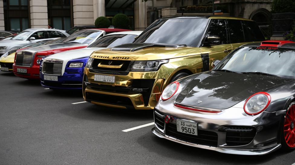 Bespoke luxury cars parked up in South West London (Credit: Getty Images)