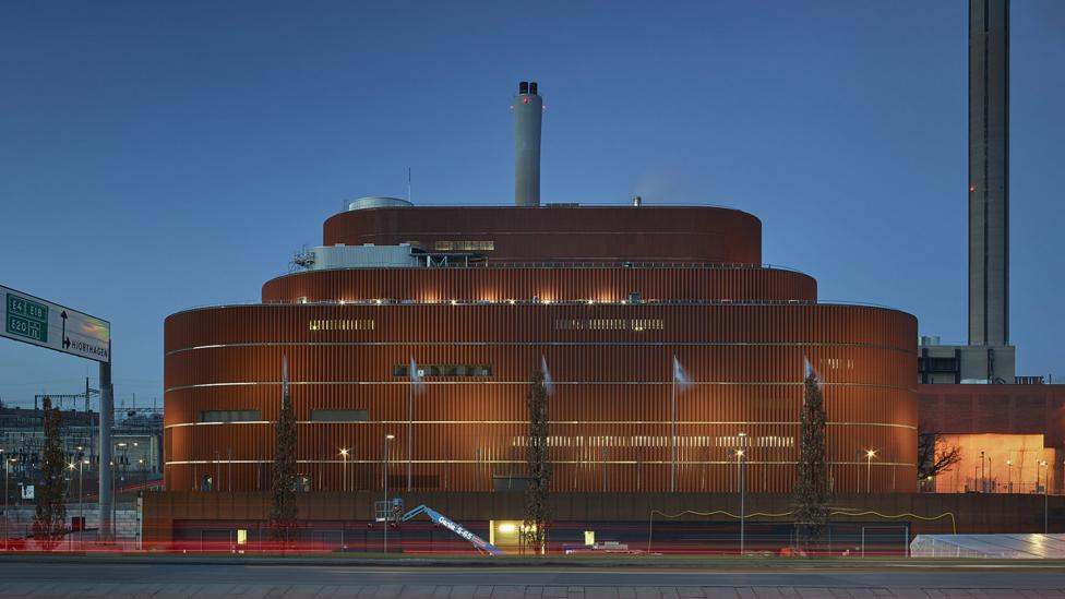 Fortum, a Swedish cooling and heating agency, just opened a new heat generation facility that helps warm homes (Credit: Fortum Värme)