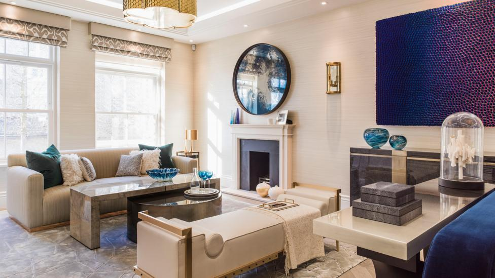 A living room created by London-based design company Taylor Howes (Credit: Mel Yates)