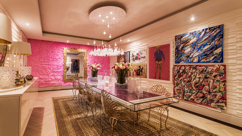 The Candy Room is a fun and loud dining room, created by Iggi Interior Design (Credit: Mel Yates)