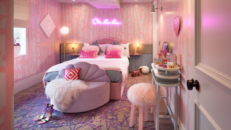 The Teenage Dream bedroom, designed by Studio Suss, aims to tell teenagers to be in control of their destiny, and aware of breast cancer risks (Credit: Mel Yates)