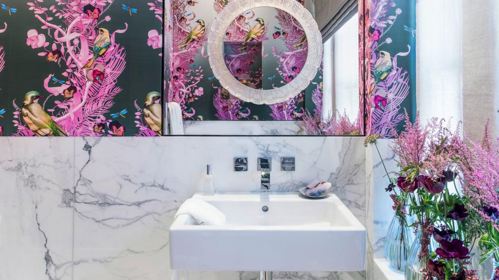 "For designer Hazel Collins, who contributed a bathroom design, it was important ""to create a bright, healing and positive environment"" (Credit: Mel Yates)"