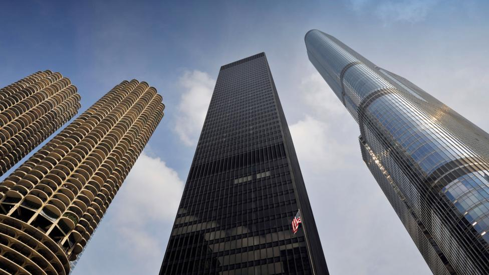 Mies van der Rohe's skyscraper for IBM was created as a 'statement' building, a towering 52-storey monolith, dedicated to the brave new world of technology (credit: Alamy)