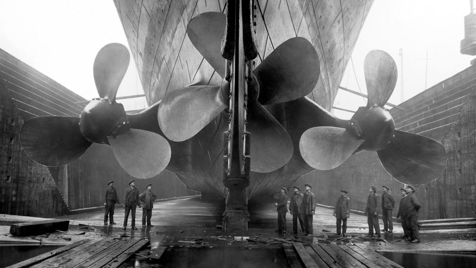 The vast Titanic in dry dock, 1911(Credit: Getty Images)