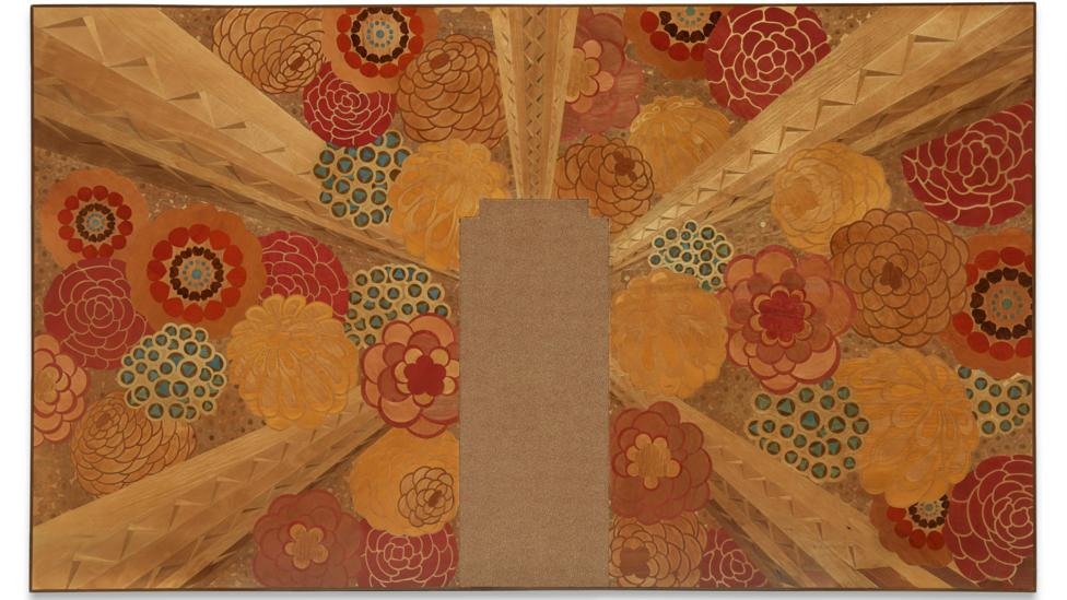 A marquetry wall panel from the Beauvais deluxe suite in the Ile-de-France by Marc Simon 1927 (Credit: Peabody Essex Museum, Salem, Massachusetts)