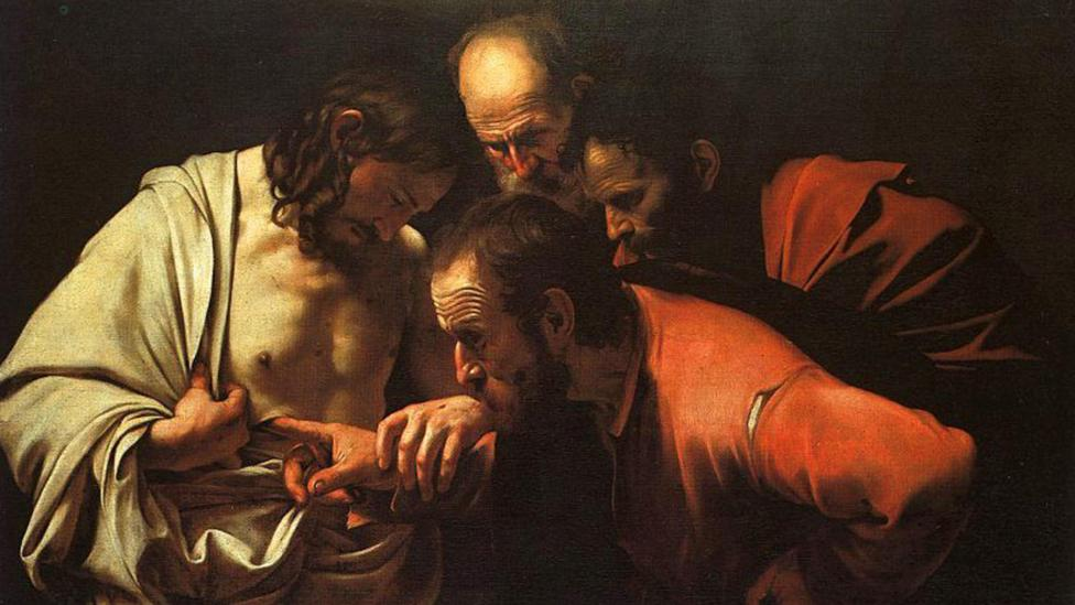 Caravaggio used cochineal as an essential element of his style, creating a dramatic contrast in The Incredulity of Saint Thomas, created in 1601-2 (Credit: Alamy)