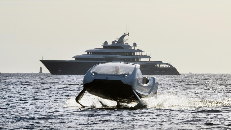 Among other nominees, Scewo beat out low-emission water taxi design Seabubbles to bag the transport award (Credit: Seabubbles)