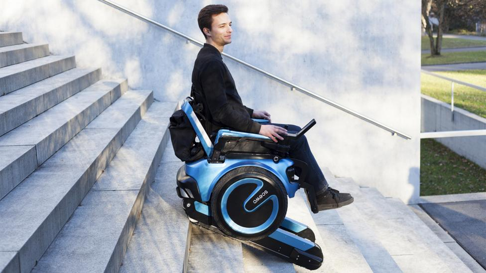 The student-led, award-winning Scewo stair climbing wheelchair is destined to revolutionise the mobility industry and be a game-changer for many disabled people (Credit: Scewo)