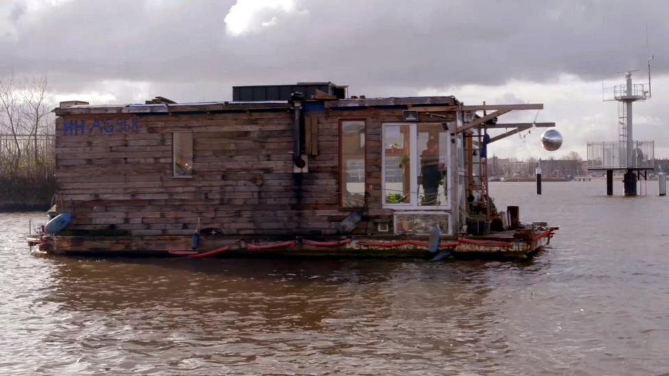 The man who built his own floating home