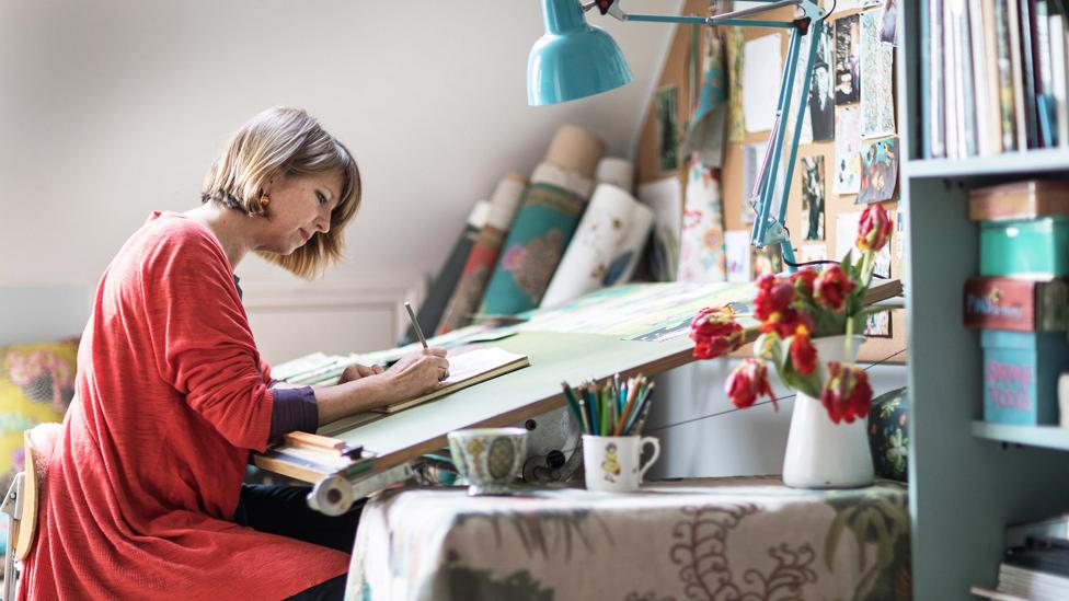 Susy Paisley in her studio (Credit: David Oxberry)