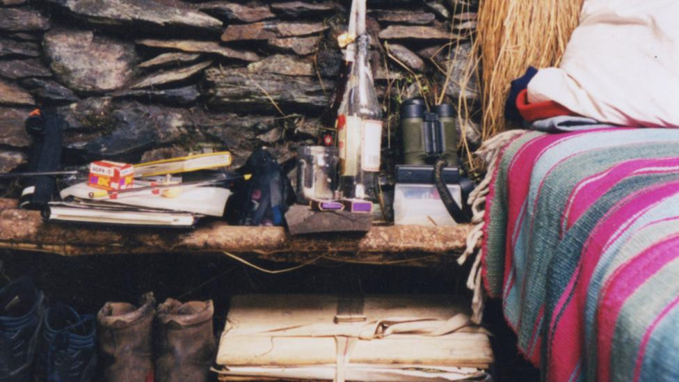 The designer's hut in the Bolivian Andes