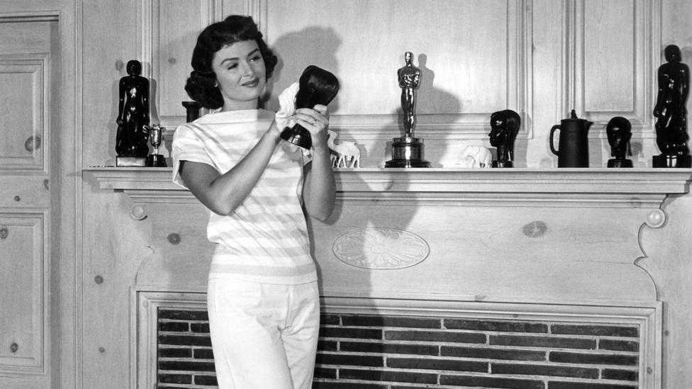 Like many Oscar winners, Donna Reed, who won the best supporting actress award for From Here to Eternity, placed her statuette on her mantelpiece (Credit: Alamy)