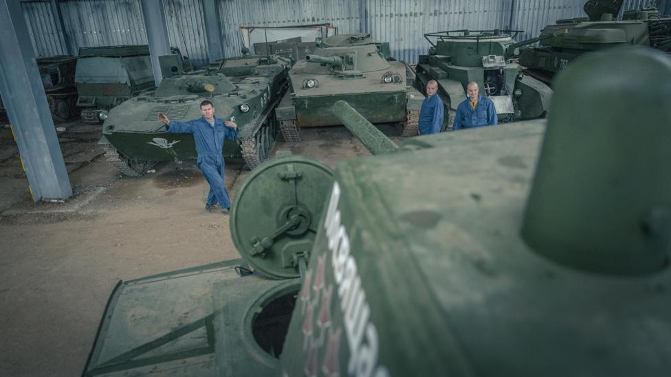 The KV-1 has joined an array of tanks at the Stalin Line museum restored by the team (Credit: Anton Skyba)