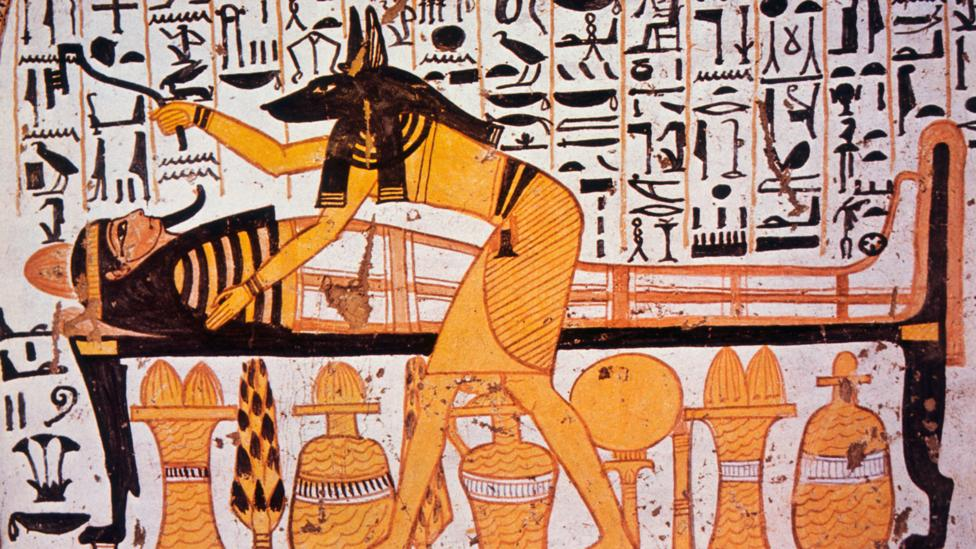 Ancient Egyptians depicted Anubis, the god who took departed souls to the underworld, in a shade similar to the most fertile soil (Credit: Alamy)