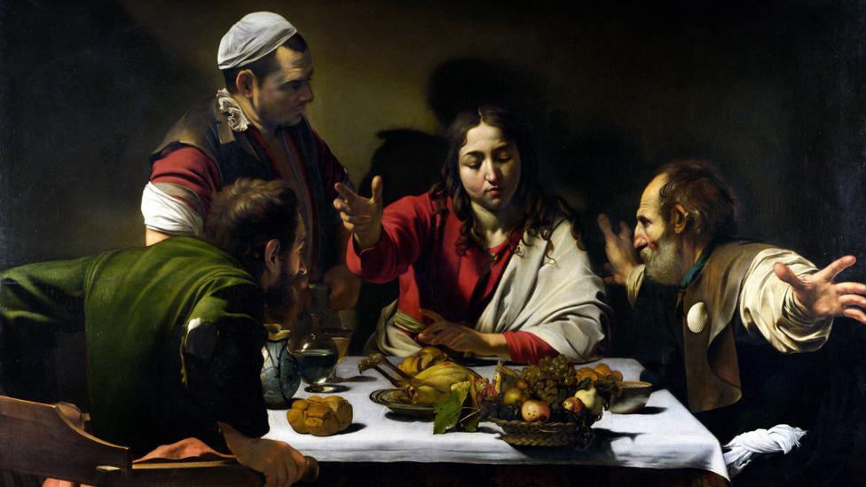 Caravaggio advanced a chiaroscuro style in paintings like Supper at Emmaus that became known as tenebrism – for its replication of the effect of Tenebrae candles (Credit: Alamy)