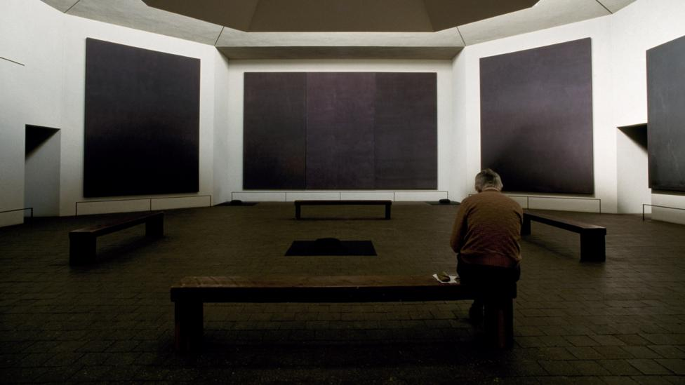 Mark Rothko's 14 black paintings in his chapel in Houston, Texas incorporate non-black hues into their colour schemes – but they hint at the mystic nature of black (Credit: Alamy)