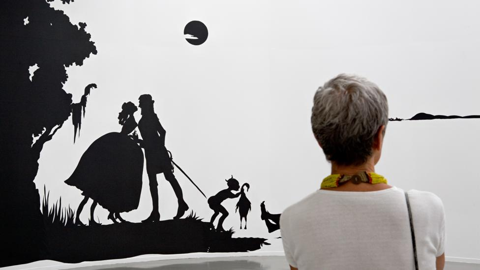 Kara Walker turns an unflinching gaze upon racial and sexual exploitation in silhouettes recalling American folk art (Credit: Mark Alexander/Sikkema Jenkins & Co/Joshua White)