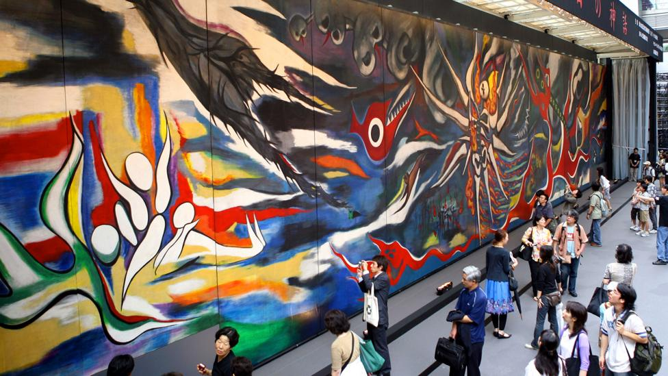 Picasso has, in turn, influenced many Asian artists, such as Taro Okamoto, who painted the world's largest mural, World of Tomorrow, in 1969 (Credit: Getty Images)
