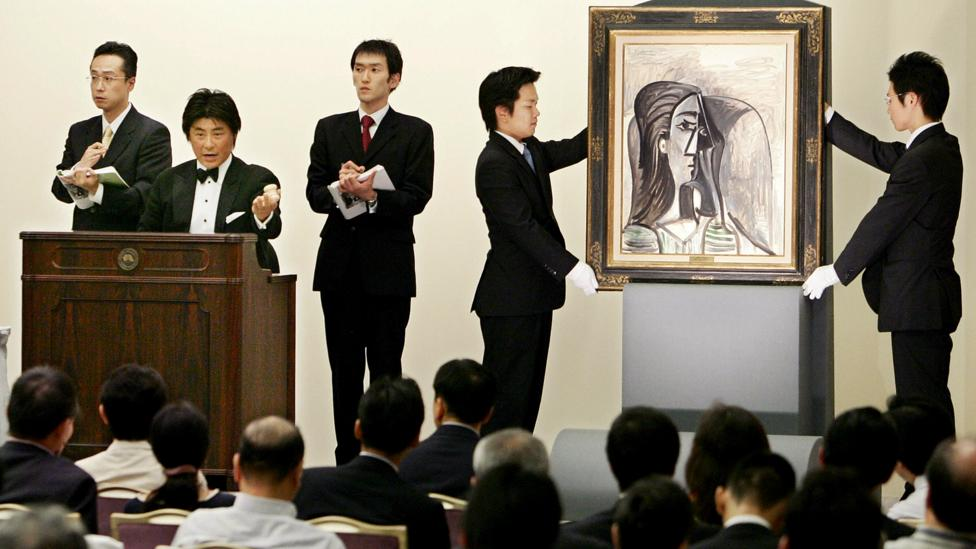 Picasso's work Busta de Femme from 1960 was sold at auction in Japan in 2005 for $1.6m (£1.14m) – and the market for his paintings has only grown since (Credit: Getty Images)