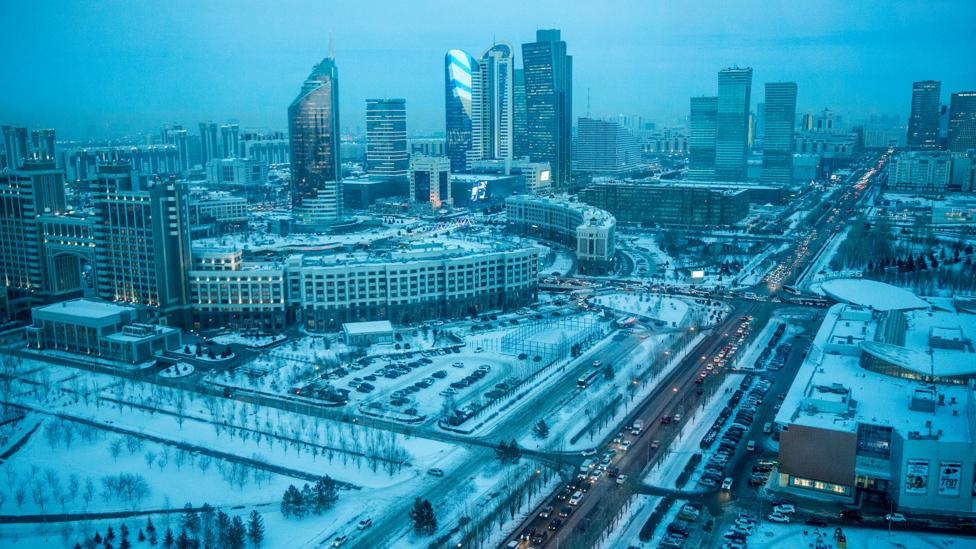 Russian is the language of choice in Kazakhstan's cities, such as the capital Astana (Credit: Taylor Weidman)