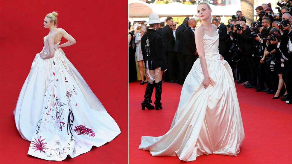 Rebellious British brand Vivienne Westwood is a favourite on the red carpet, seen here worn by actress Elle Fanning (Credit: Getty Images)