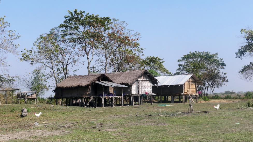 The islanders' homes stand on stilts to defend against frequent floods (Credit: Jules Montague)