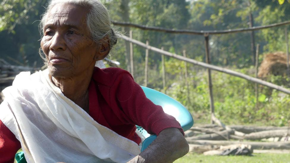 Tikshri Pegu, who had a stroke in her 20s, is one of the islanders to receive care from the hospital boats (Credit: Jules Montague)