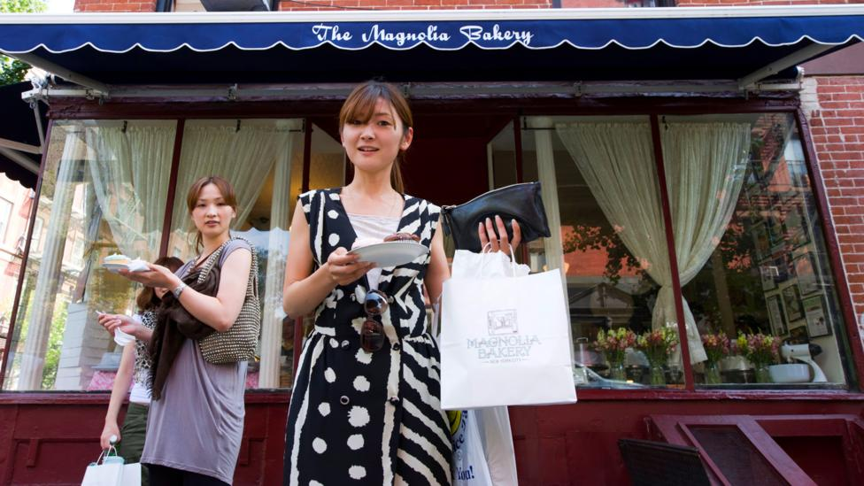 Magnolia Bakery cupcakes became a New York institution because they were featured in Sex and the City, and they have proven popular in Asia as well (Credit: Alamy)
