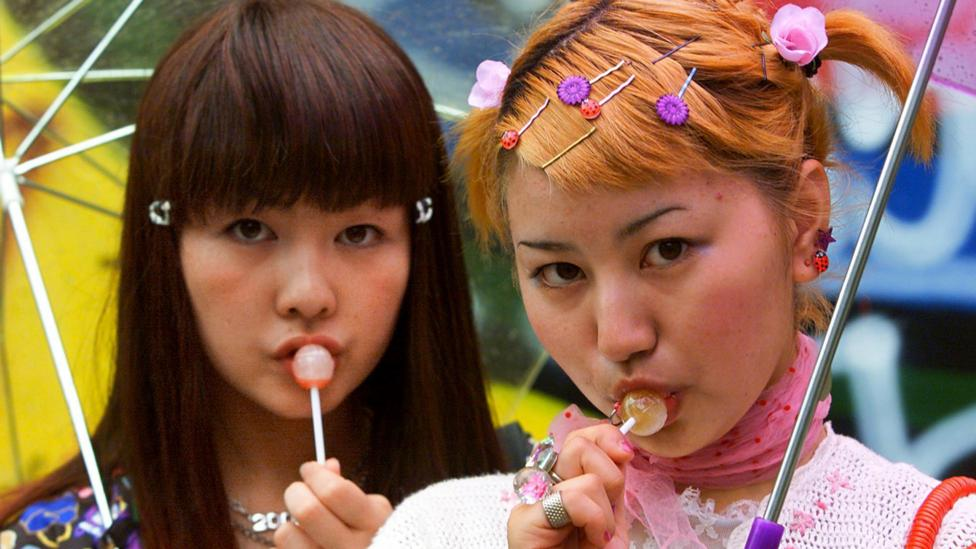 Sex and the City arrived right at the moment that bolder feminine attitudes were emerging in Japan, as epitomised by the Harajuku style (Credit: Getty Images)
