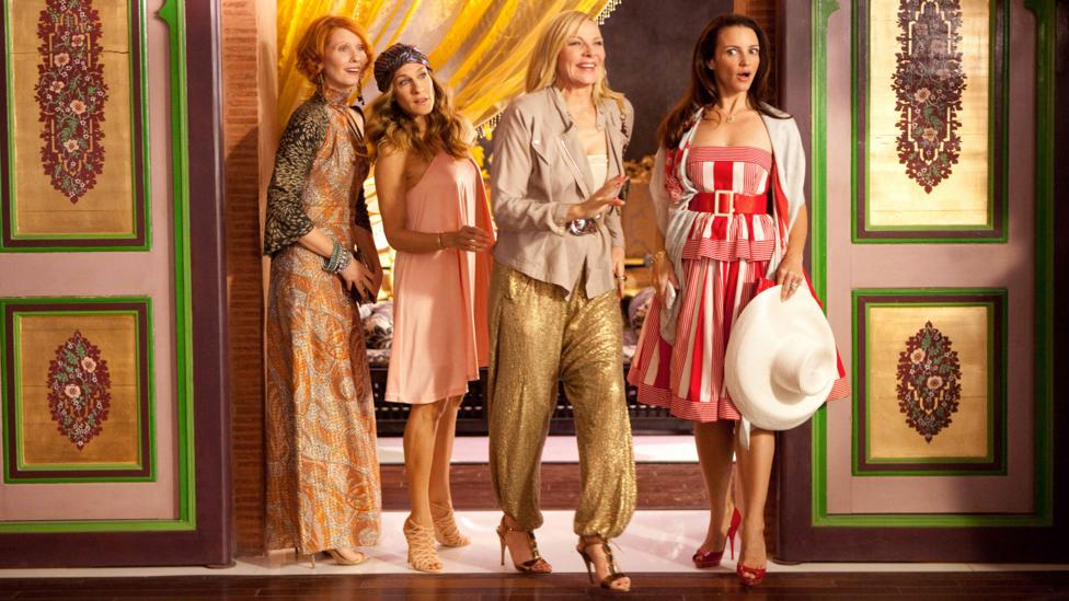 The two feature film follow-ups were not well-regarded by critics – especially Sex and the City 2, which found the women travelling to the UAE (Credit: Alamy)