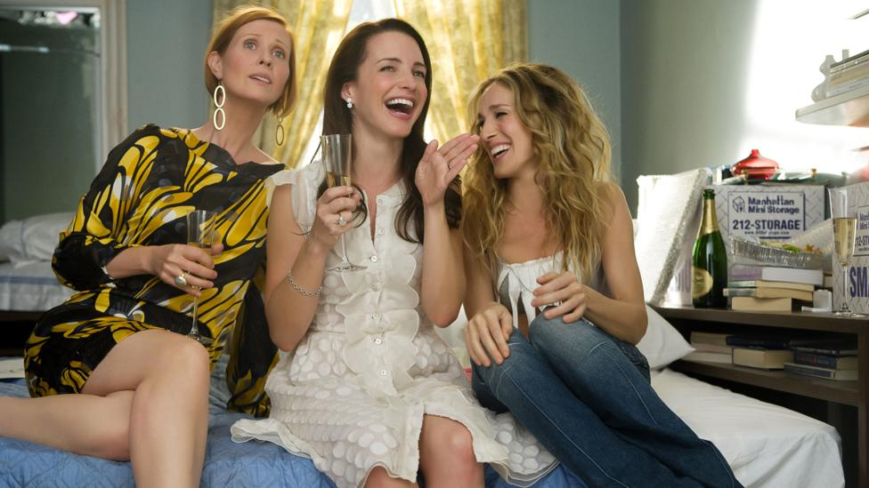 Sex and the City aired from 1998 to 2004 in the US and unfolded over 98 episodes – a prequel series, The Carrie Diaries, followed in 2013 (Credit: Alamy)