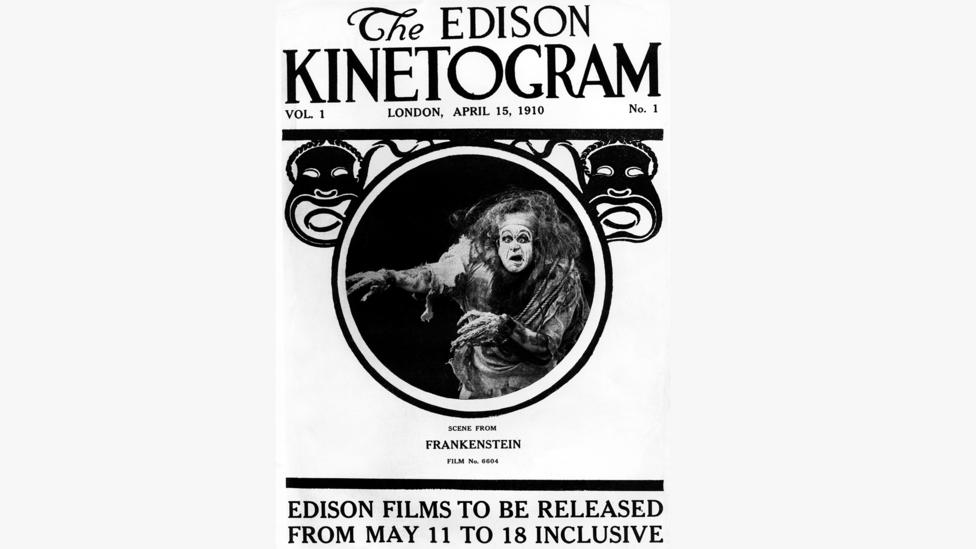 Thomas Edison's 1910 short film was the first time the story of Frankenstein appeared on screen (Credit: Alamy)