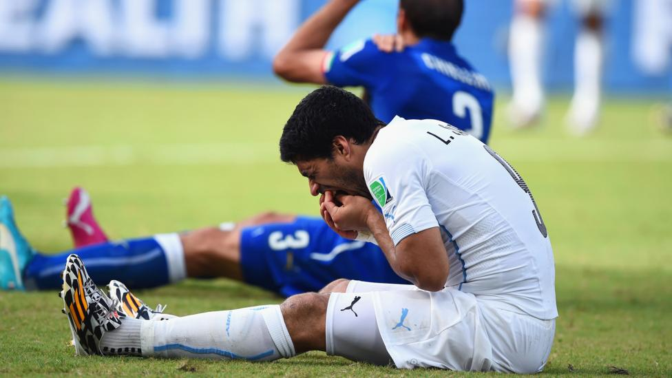 The ban handed to Uruguay striker Luis Suarez after a biting incident at the last World Cup played a part in his side being knocked out of the tournament (Credit: Getty Images)