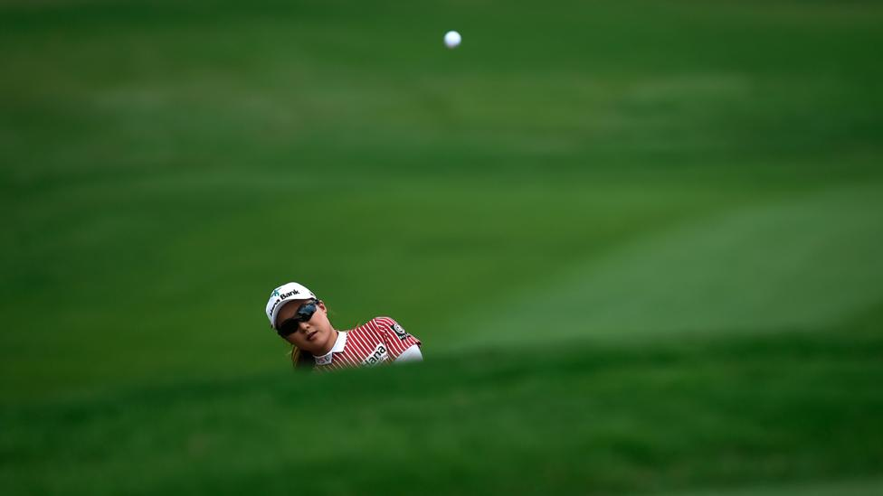 Minjee Lee of Australia hits a shot during the final round of the Honda LPGA golf tournament in 2018 (Credit: Getty Images)