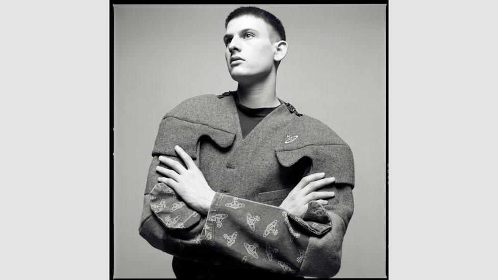 Adrian Pel in Vivienne Westwood jacket (Credit: Tessa Hallmann)